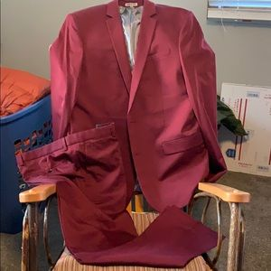 Express Burgundy Suit in Size 42L/34x34 Pants